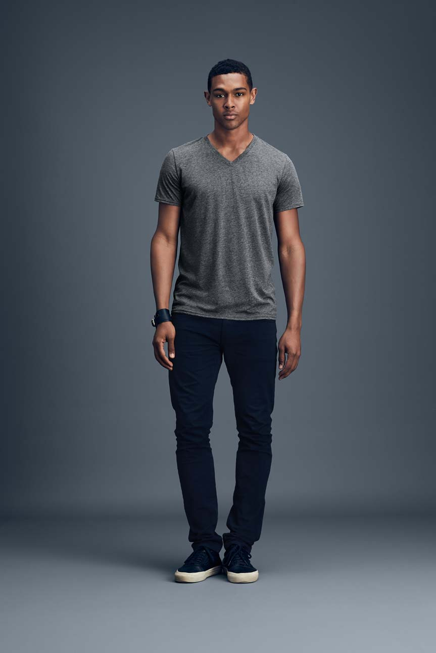 T-shirt Featherweight V-Neck Tee ANVIL