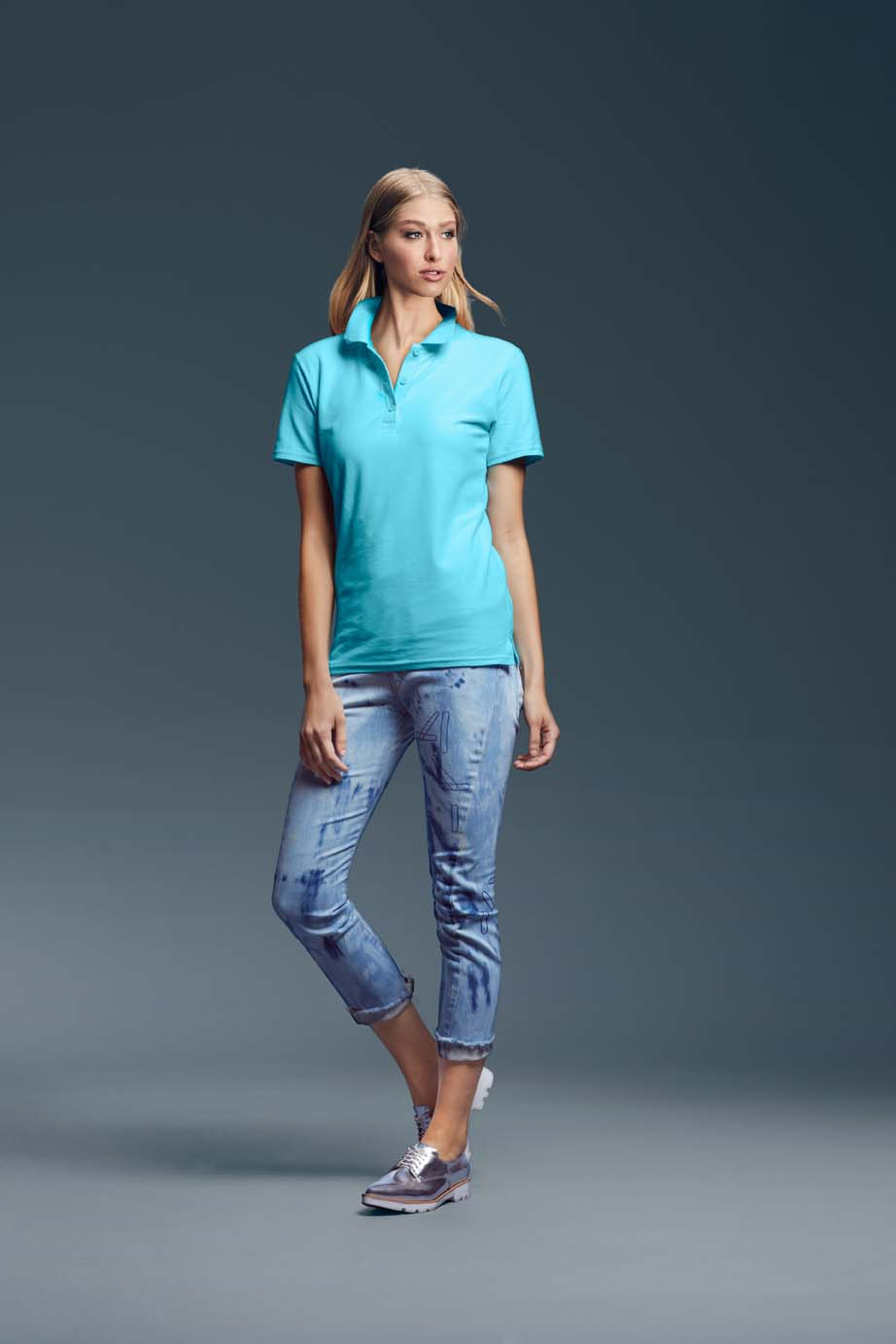 Polo Women's Double Piqué Polo ANVIL