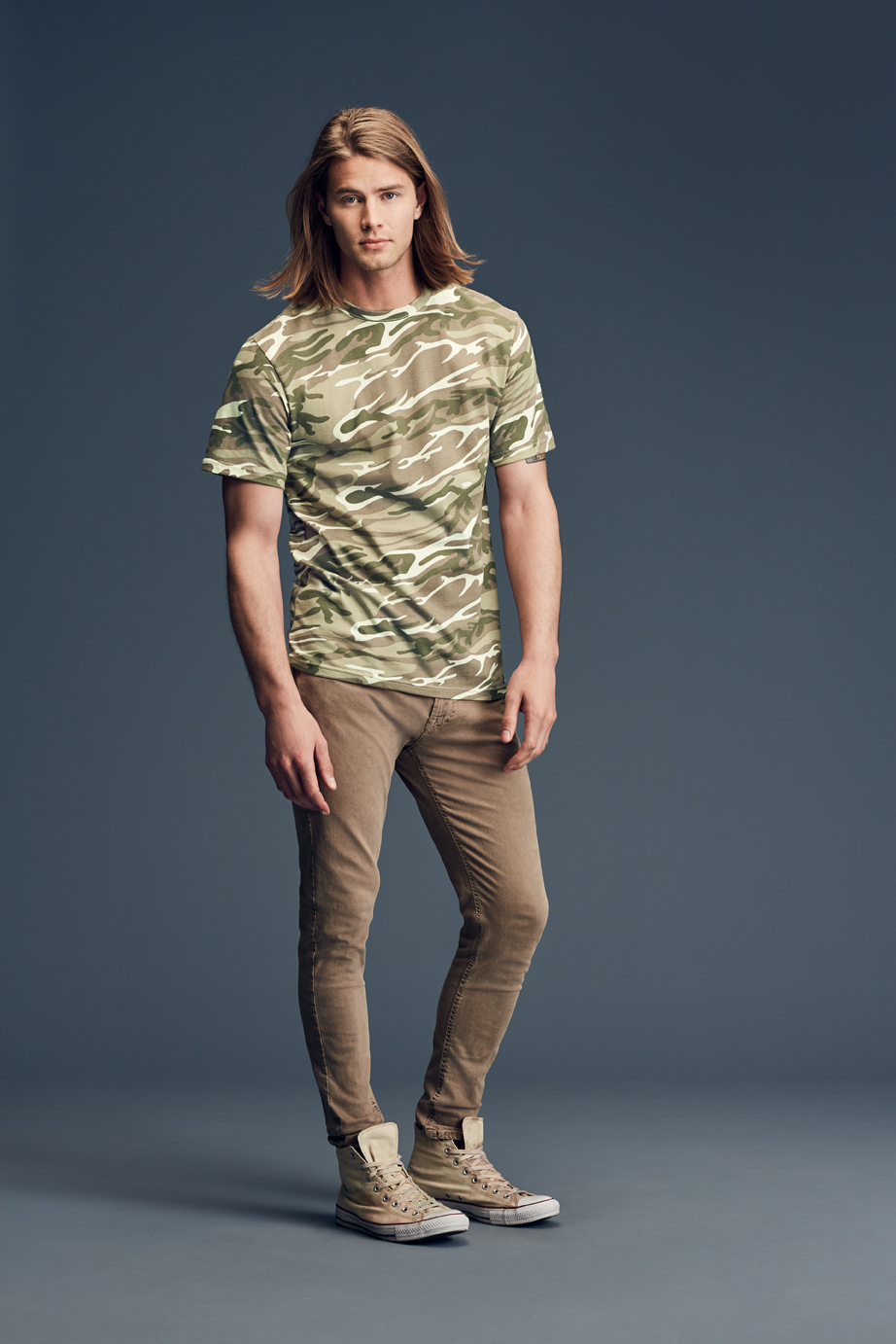 T-shirt Midweight Camouflage Tee ANVIL
