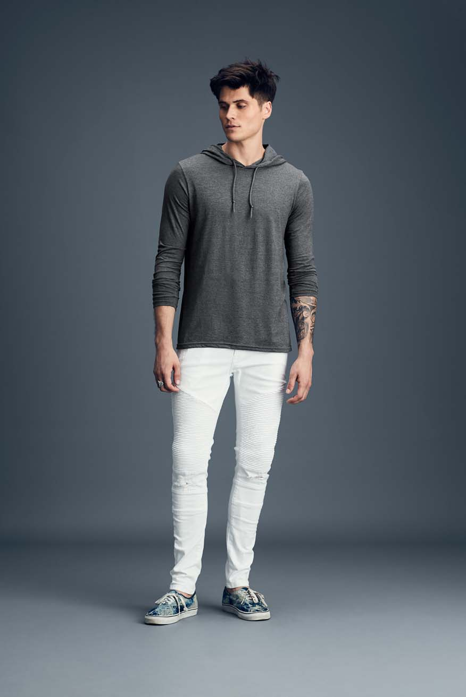 T-shirt Long Sleeve Hooded Tee ANVIL