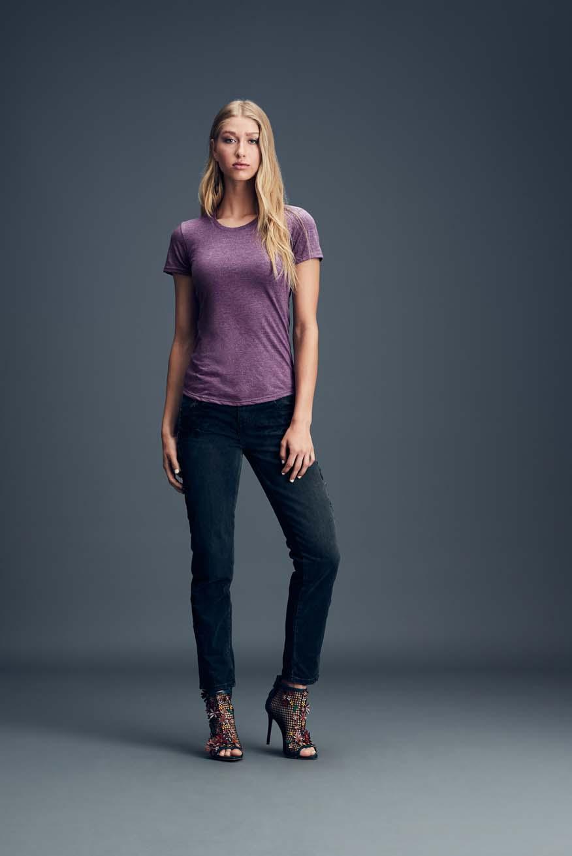 T-shirt Women's Tri-Blend Tee ANVIL
