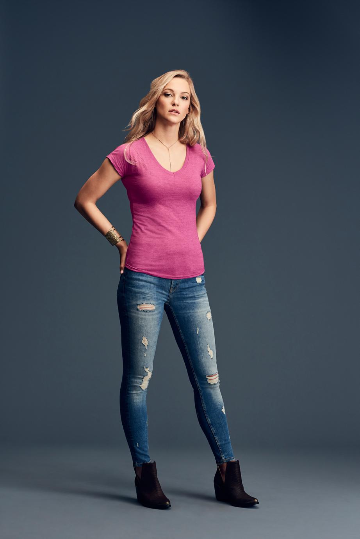 T-shirt Women's Tri-Blend V-Neck Tee ANVIL