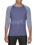 T-shirt Tri-Blend 3/4 Sleeve Raglan Tee ANVIL ?>