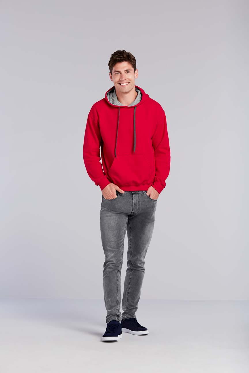 Bluza Heavy Blend Contrasted Hooded GILDAN