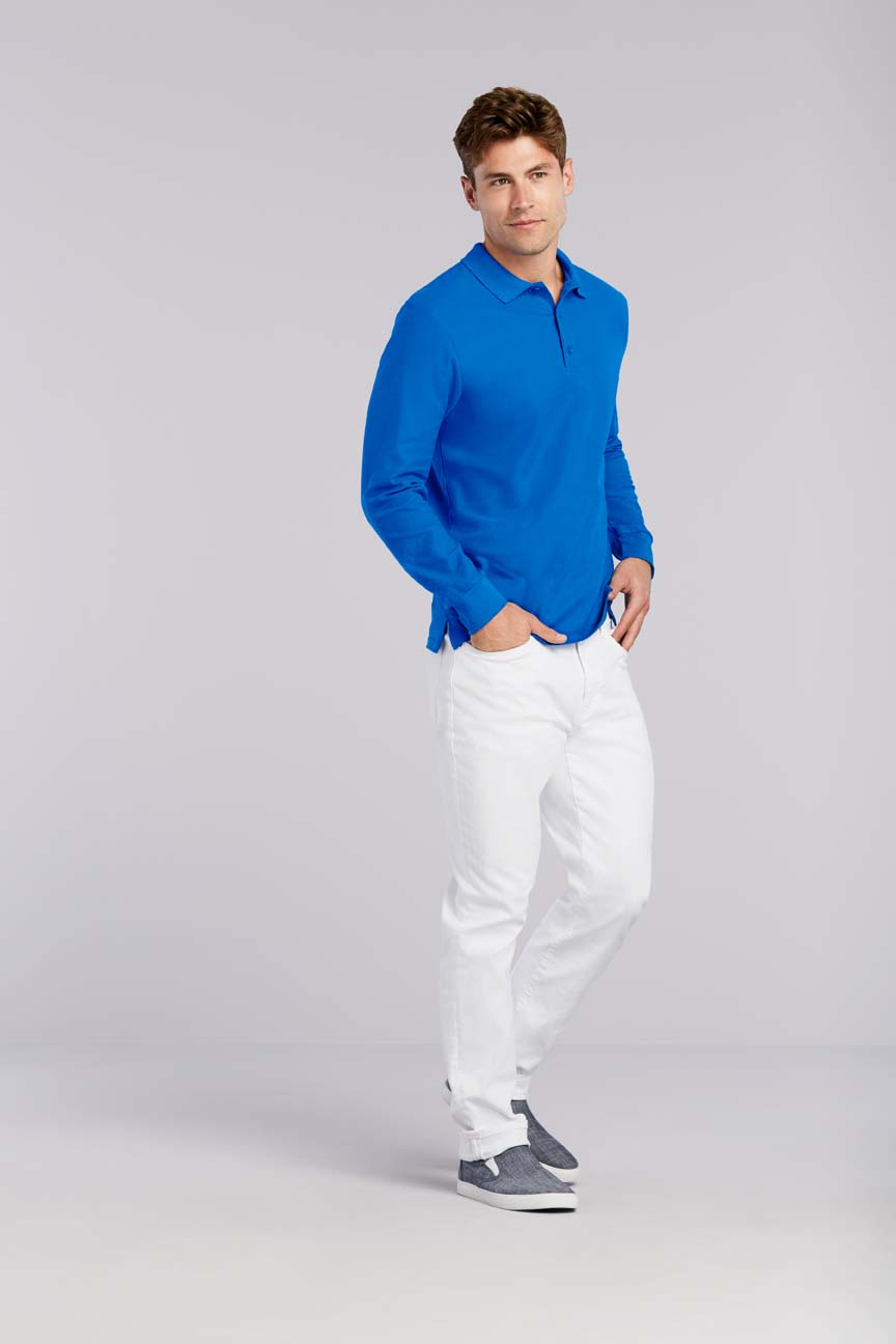 Polo Long Sleeve Premium Cotton GILDAN